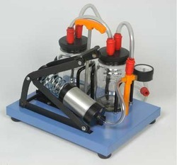 Suction machine manual foot operated double jar